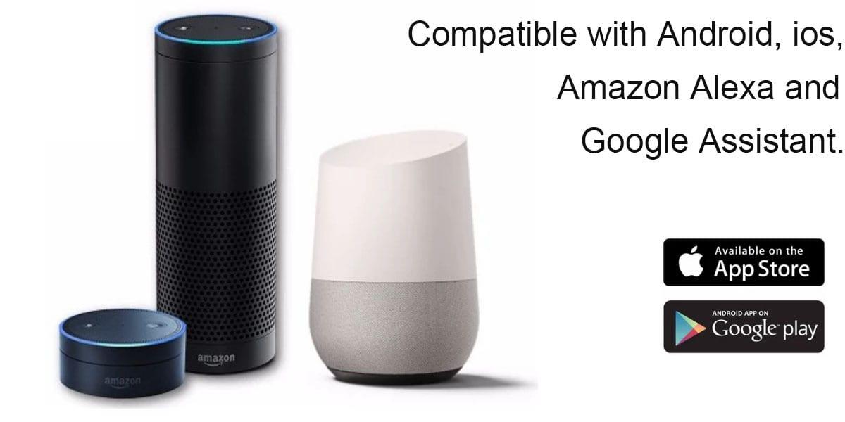 Compatible with goolge alexa